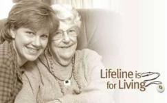 Lifeline logo with 2 women hugging